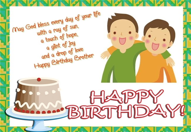 Brother birthday card send everyday brother birthday card m4hsunfo Images