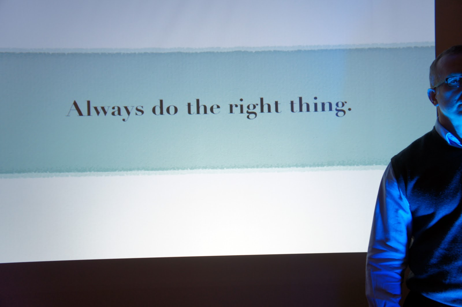 David Brett-Williams: Always Do the Right Thing
