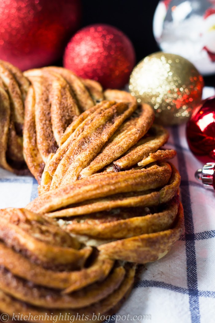 Kringle is an Estonian pastry flavored with cinnamon that is usually baked around holidays or other celebrations