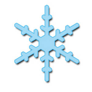 Blue snowflakes clip art image for Christmas decoration