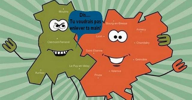 Région Auvergne-Rhône-Alpes.