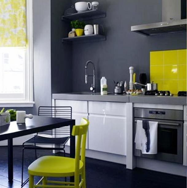 Grey and Yellow Kitchen Color Schemes