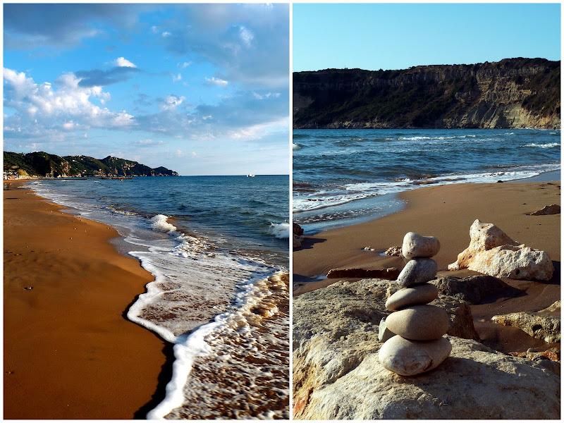 Der Sandstrand von Arillas im Nordwesten der Insel Korfu (Griechenland)