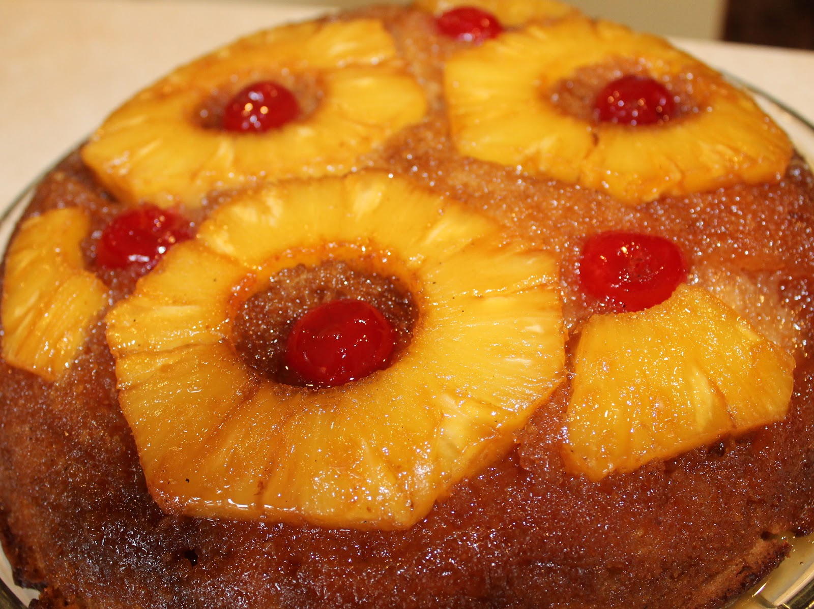 Skillet Pineapple Upside Down Cake - Just~One~Donna