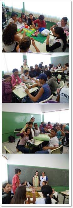 Trabalhos em grupo com a Profª Débora e Profª Elisa.