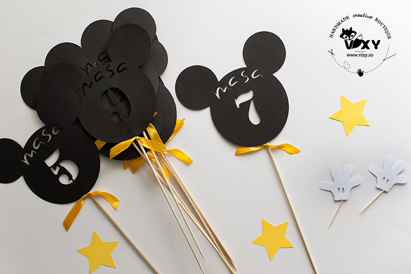 numar masa Mickey Mouse, numar masa decupat, numar masa botez Mickey, vixy.ro, Mickey Mouse, Minnie Mouse, botez tematic Mickey, botez tematic Minnie, numar masa Minnie, papetarie personalizata botez, botez tematic Mickey, Mickey si Minnie