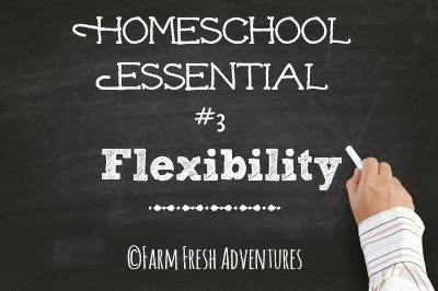 homeschooling essentials flexibility