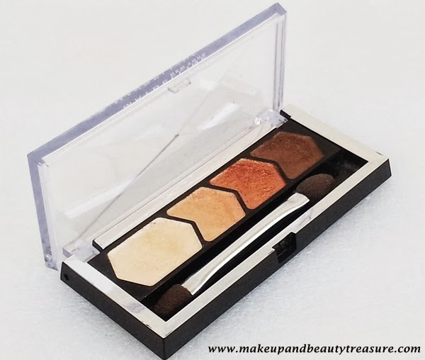 Maybelline New York Diamond Glow Eye Shadow '01 Copper Brown' Review, Swatches & EOTD