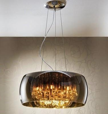 Decoracion actual de moda en el techo lamparas modernas 2014 - Lampara moderna techo ...