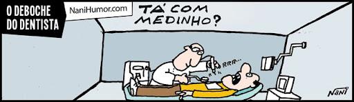 Tirinhas: Profissionais debochados. dentista