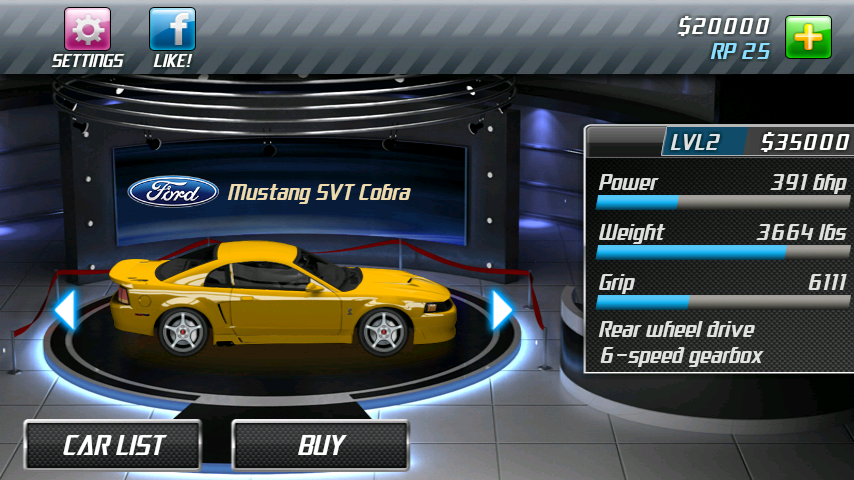Drag Racing App Lambo Level 6 Boss