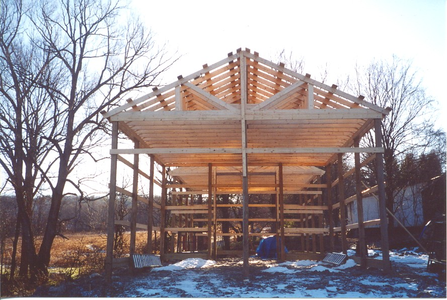Open Sided Pole Barn Plans http://thefieldlab.blogspot.com/2012_09_01_archive.html