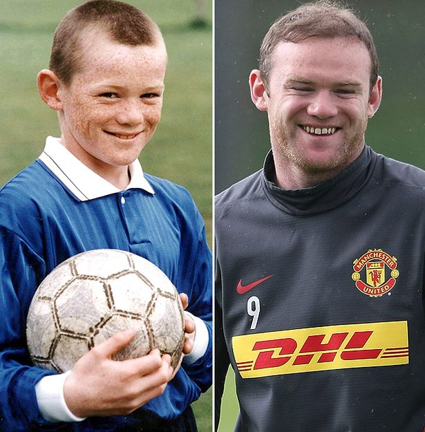 Wayne Rooney 10 Years Old Wayne Rooney as a year old My word Good thing he had a hair