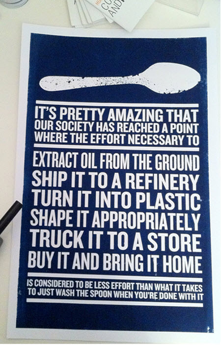La vagancia y las cucharitas de plástico