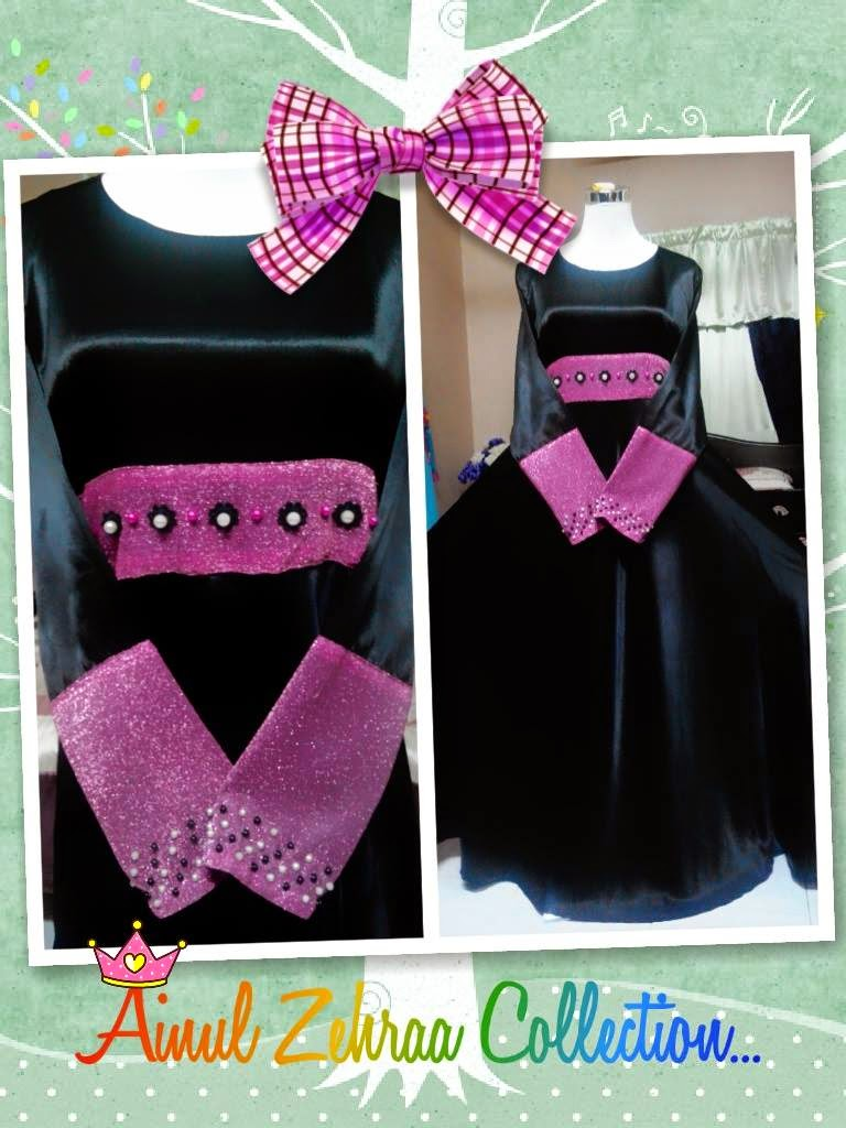 Dress Hitam Pink