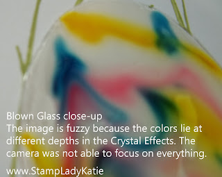 close-up of the Blown Glass Technique by StampLadyKatie
