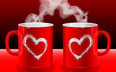 Tazas de amor con corazones - Love cups