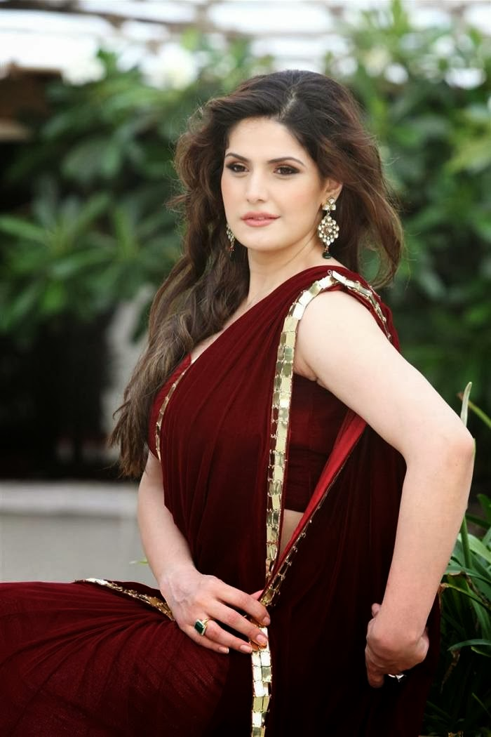 Zarine Khan in Saree images