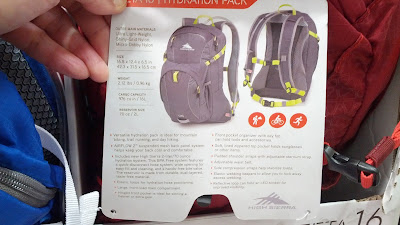 High Sierra Zeta 16L Hydration Pack features water bladder