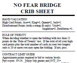 Bridge cheat sheet - small extract