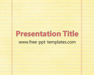 Notebook paper powerpoint template free notebook paper ppt template free powerpoint templates toneelgroepblik Choice Image