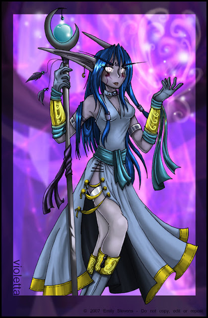 Violetta - Night Elf Priest por violetomega
