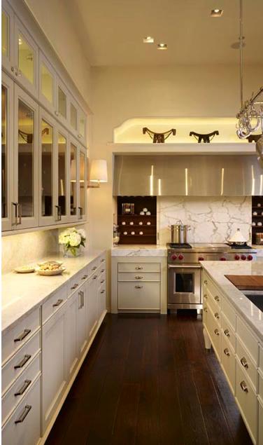 decorator on demand: mirrored kitchen cabinets?