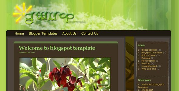 Greencrop Premium Blogger Template