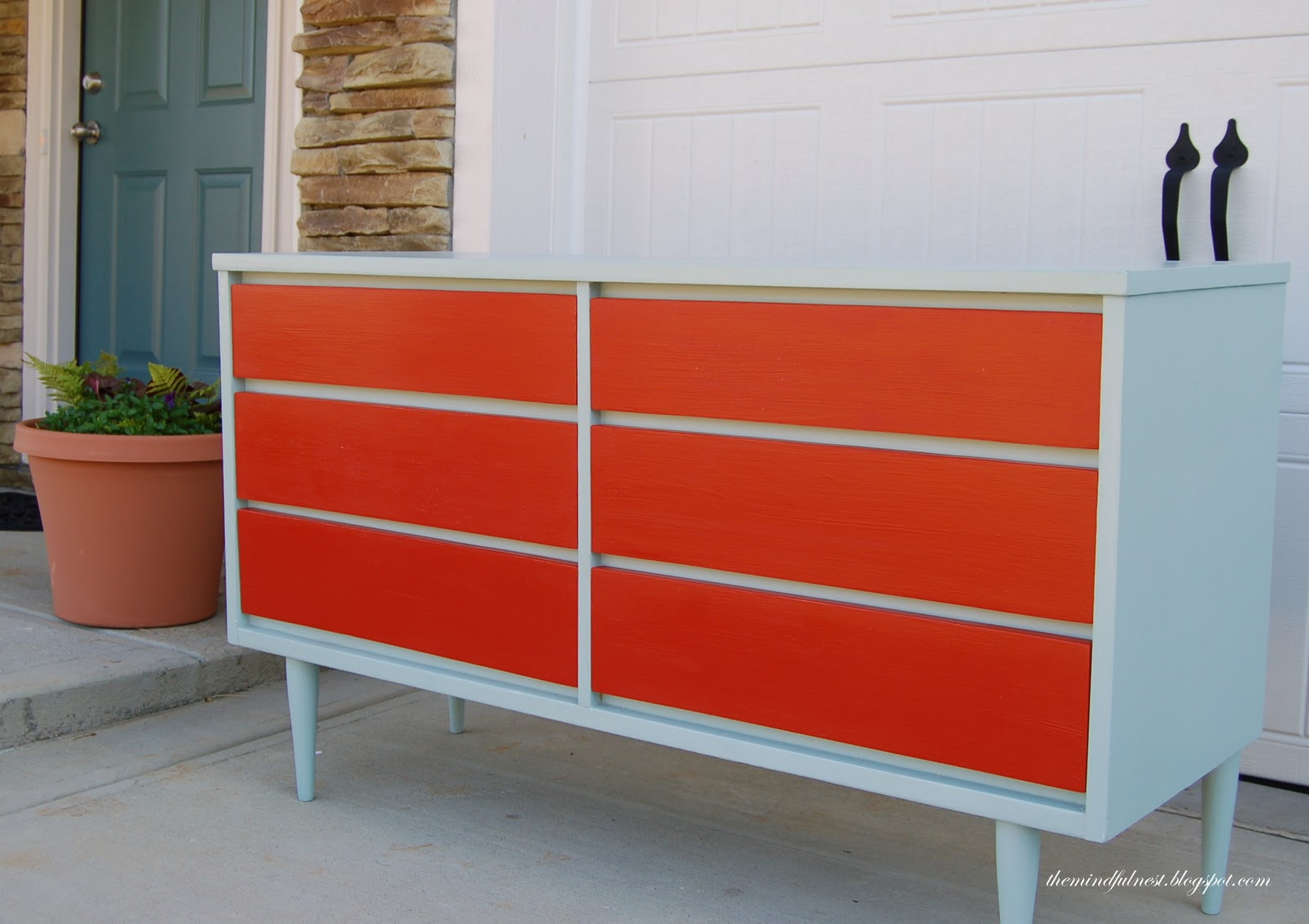 Dressers to paint on pinterest dressers miss mustard for Painted mid century modern furniture