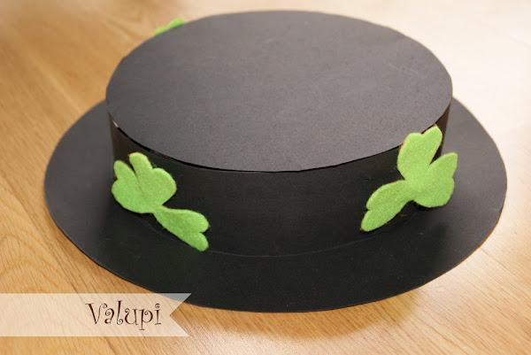 diy sombrero de cartulina para saint patricks day manualidades