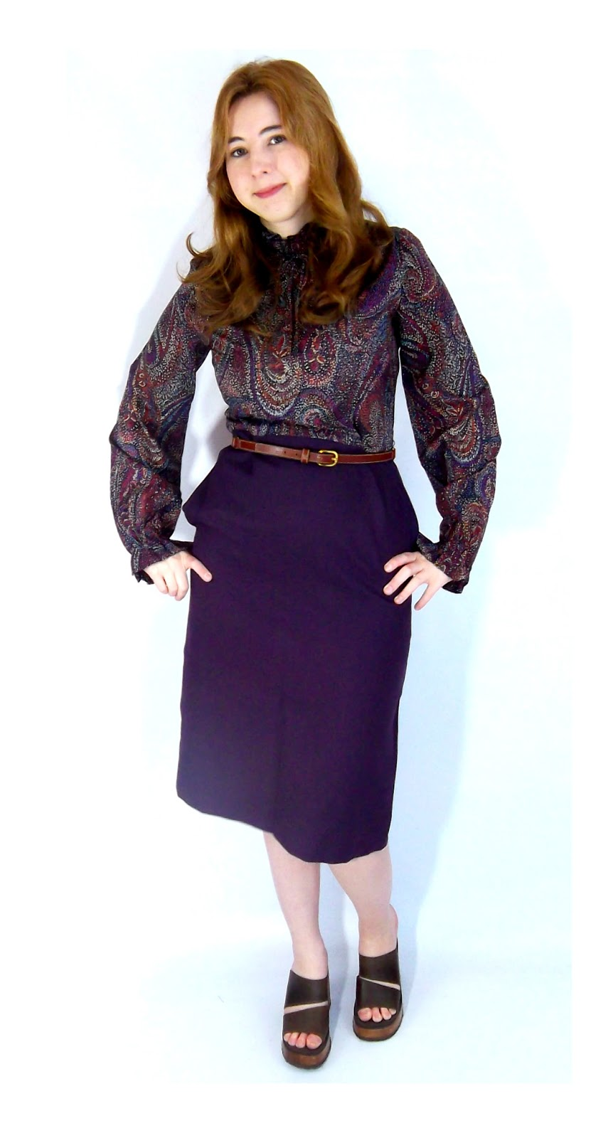 70s purple dress