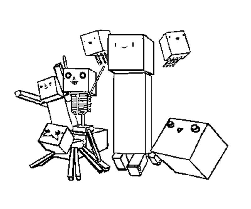 Printable Minecraft 4 Coloring Page title=