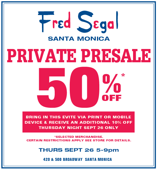 SHOPPING LOS ANGELES: Fred Segal's Pre-Sale Shopping Event photo 1