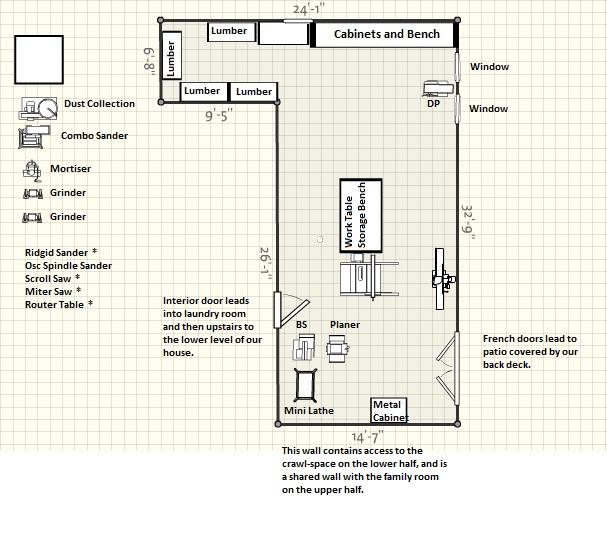 Woodworking Shop Electrical Layout: Second Wind Workshop: December 2011