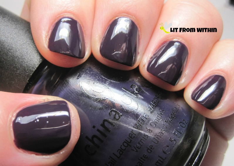 China Glaze VIII, a dark, creamy, smoky purple