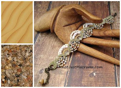 Sand dunes in macrame (bracelet).