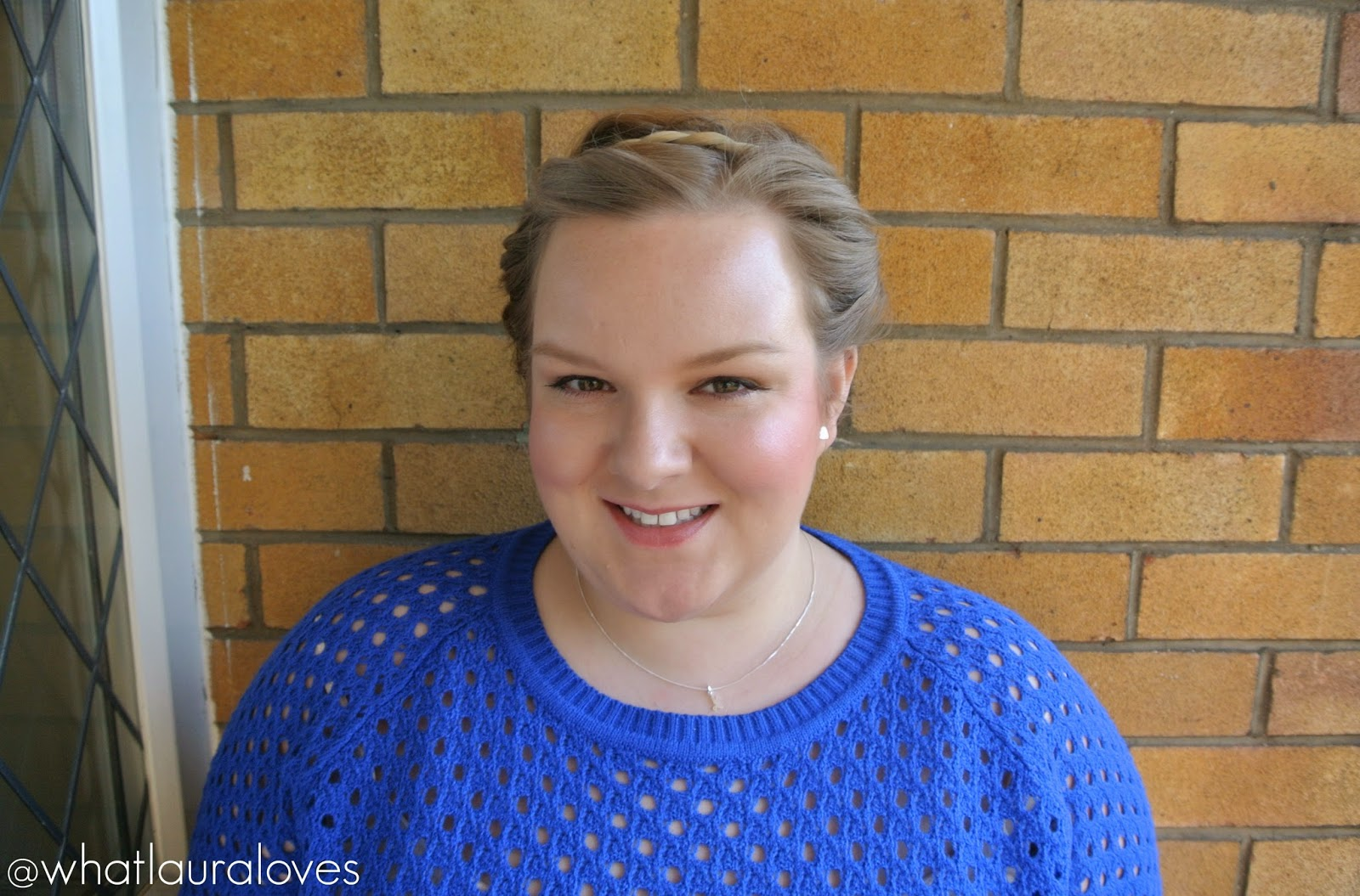 Fresh Glowing Skin with Rosy Red Cheeks and Lips Makeup Look