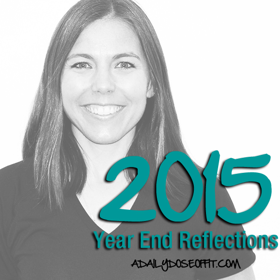 Thoughts on 2015 from a health and fitness blogger.