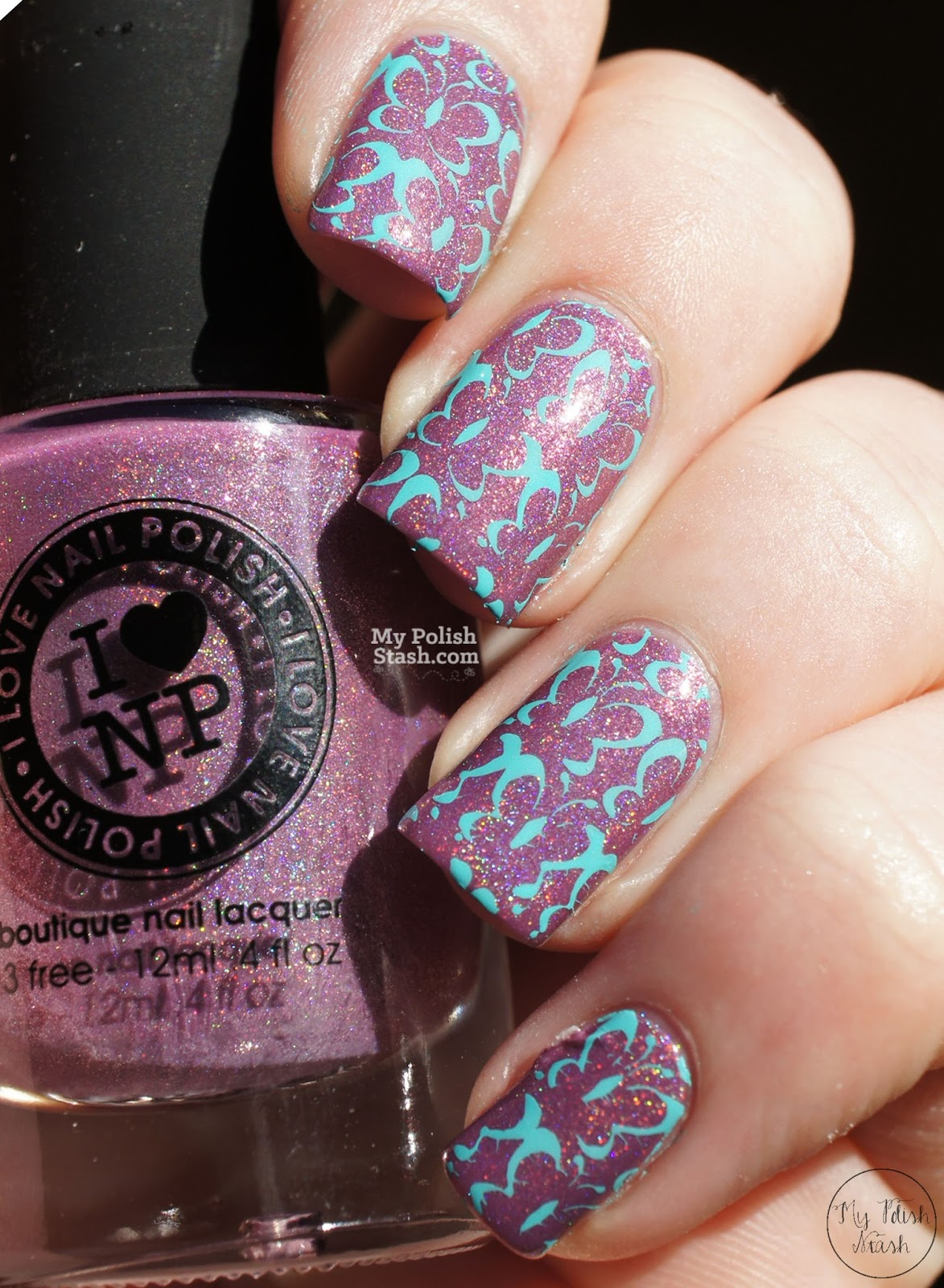 Spring nail design butterfly