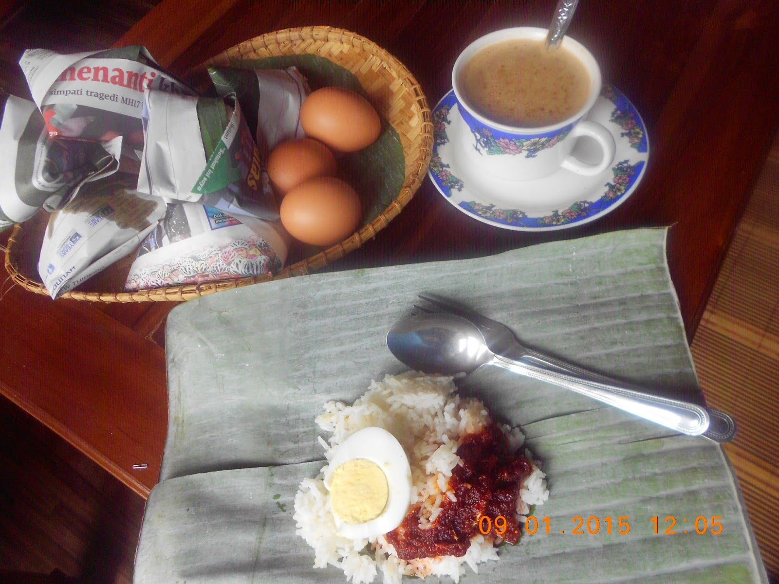 Namakucella Nasi Lemak Bungkus Daun Pisang