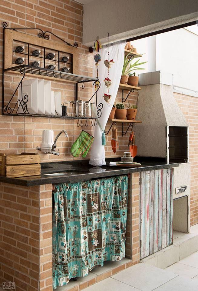 decorar cozinha rustica:Inspire-se com as imagens que escolhi com muito carinho e use cortinas