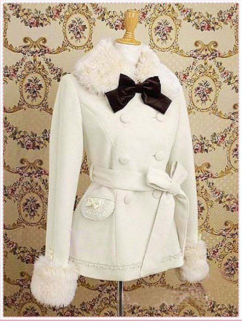 Winter Sweet Bow Lolita Wool Jacket