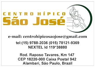 HÍPICA SÃO JOSÉ Alambari, São Paulo, Brazil Rod. Raposo Tavares, Km 147  CEP 18220-000 Caixa Postal