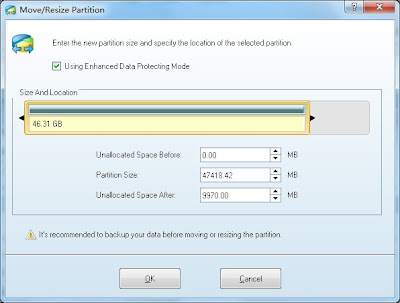 MiniTool Partition Wizard Home and Professional Edition 8.0 - Move or Resize Partition