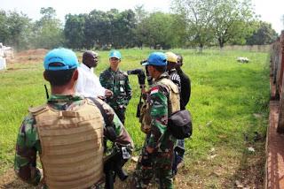 Satgas Kizi TNI di Afrika Bantu Leveling Land di Stasiun TVCA