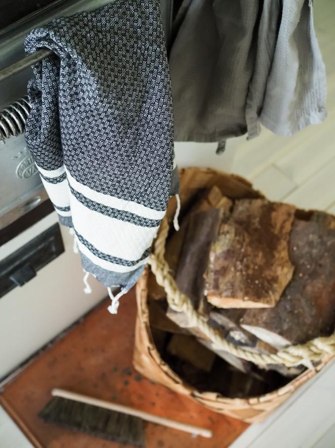 hamam pyyhe keittiöpyyhkeenä, hamam keittiö, mustavalkoinen käsipyyhe. Kotilaituri käsipyyhe hamampyyhe verkkokauppa