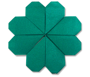 Clover Origami on Origami Club
