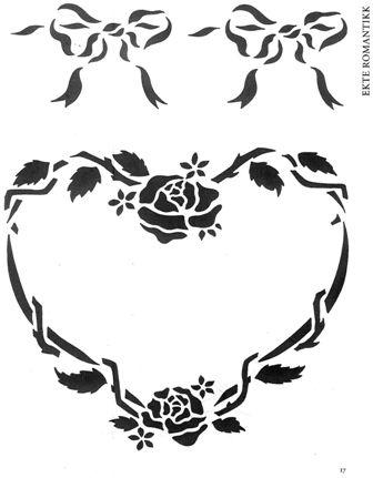 School of sugarcraft disegni romantici da ricalcare con for Stencil da stampare per cucina