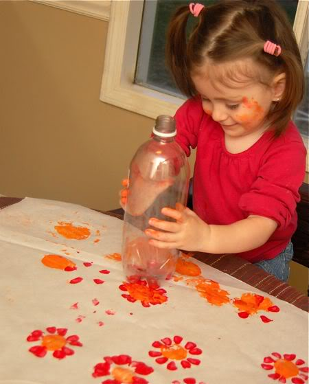 flores com garrafa pet
