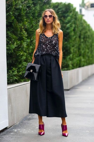 Street Style Fashion Gaucho Pants trend